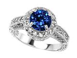 Original Star K™ 7mm Round Created Sapphire Engagement Ring style: 27135