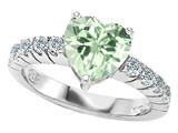 Original Star K™ Genuine 8mm Heart Shape Green Amethyst Engagement Ring style: 27172