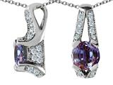 Original Star K™ 925 Simulated Round Alexandrite Pendant