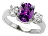 Original Star K™ 925 Genuine Oval Amethyst Engagement Ring