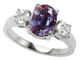 Original Star K™ 925 Simulated Oval Alexandrite Engagement Ring