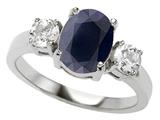 Original Star K™ 925 Genuine Oval Black Sapphire Engagement Ring style: 27354