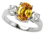 Original Star K™ 925 Genuine Oval Citrine Engagement Ring