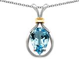 Original Star K™ Pear Shape 11x8mm Genuine Blue Topaz Pendant
