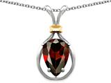 Original Star K™ Pear Shape 11x8mm Genuine Garnet Pendant