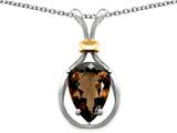 Original Star K™ Pear Shape 11x8mm Genuine Smoky Quartz Pendant