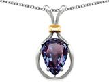 Original Star K Pear Shape 11x8mm Simulated Alexandrite Pendant