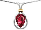 Original Star K™ Pear Shape 11x8mm Created Ruby Pendant