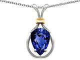 Original Star K™ Pear Shape 11x8mm Created Sapphire Pendant style: 27492