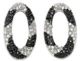 Noah Philippe Oval Shape Black and White Earrings