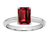 Tommaso Design Octagon Cut 8x6mm Created Ruby Engagement Ring
