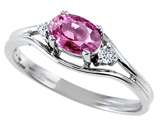 Tommaso Design™ Genuine Pink Tourmaline and Diamond Ring style: 301671