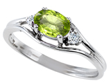 Tommaso Design™ Genuine Peridot and Diamond Ring style: 301674