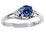 Tommaso Design™ Genuine Sapphire and Diamond Ring style: 301676