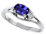 Tommaso Design™ Genuine Iolite and Diamond Ring style: 301679