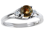 Tommaso Design™ Genuine Smoky Quartz and Diamond Ring style: 301692