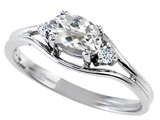 Tommaso Design™ Genuine White Topaz and Diamond Ring style: 301693