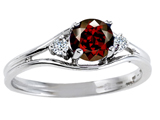Tommaso Design™ Genuine Garnet and Diamond Ring style: 301694