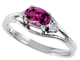 Tommaso Design™ Genuine Rhodolite and Diamond Ring style: 301696