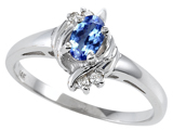 Tommaso Design™ Genuine Tanzanite and Diamond Ring