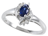 Tommaso Design Genuine Sapphire and Diamond Ring