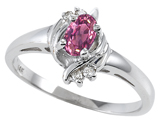 Tommaso Design™ Genuine Pink Tourmaline and Diamond Ring style: 301705