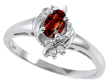 Tommaso Design™ Genuine Garnet and Diamond Ring style: 301707