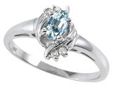Tommaso Design™ Genuine Aquamarine and Diamond Ring style: 301711