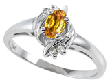 Tommaso Design™ Genuine Citrine and Diamond Ring style: 301712