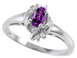 Tommaso Design™ Genuine Amethyst and Diamond Ring style: 301713