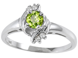 Tommaso Design™ Genuine Peridot and Diamond Ring style: 301714