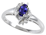 Tommaso Design™ Genuine Iolite and Diamond Ring style: 301715