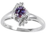 Tommaso Design™ Simulated Alexandrite And Genuine Diamond Ring style: 301717