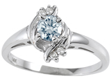 Tommaso Design™ Genuine Aquamarine and Diamond Ring style: 301718
