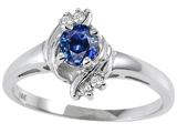 Tommaso Design™ Genuine Sapphire and Diamond Ring style: 301719