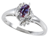 Tommaso Design™ Simulated Alexandrite And Genuine Diamond Ring