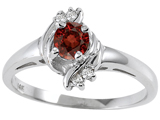 Tommaso Design™ Genuine Garnet and Diamond Ring style: 301722