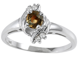 Tommaso Design™ Genuine Smoky Quartz and Diamond Ring style: 301723