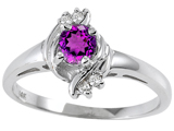 Tommaso Design™ Genuine Amethyst and Diamond Ring style: 301724