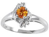 Tommaso Design™ Genuine Citrine and Diamond Ring style: 301725