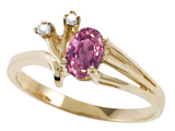 Tommaso Design™ Genuine Pink Tourmaline and Diamond Ring style: 301734