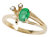 Tommaso Design™ Genuine Emerald and Diamond Ring style: 301735