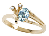 Tommaso Design™ Oval Genuine Aquamarine and Diamond Ring style: 301737