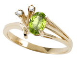 Tommaso Design™ Genuine Peridot and Diamond Ring style: 301739