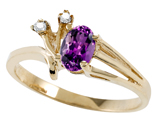 Tommaso Design™ Genuine Amethyst and Diamond Ring style: 301741