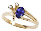 Tommaso Design™ Genuine Iolite and Diamond Ring style: 301742