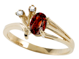 Tommaso Design™ Genuine Garnet and Diamond Ring style: 301744