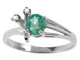 Tommaso Design™ Genuine Emerald and Diamond Ring style: 301746
