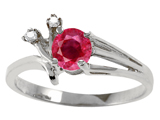 Tommaso Design™ Genuine Ruby and Diamond Ring style: 301748