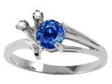Tommaso Design™ Genuine Sapphire and Diamond Ring style: 301749